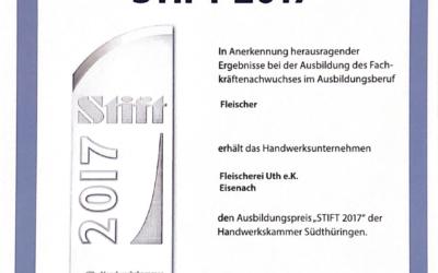 """Ausbildungspreis """"Stift 2017"""""""