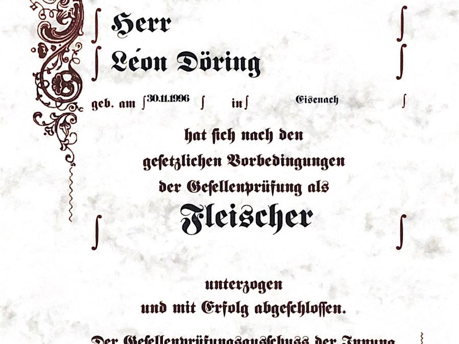 Gesellenprüfung von Léon Döring
