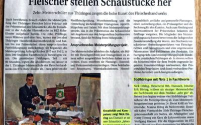 Handwerkskammer Südthüringen: Nick Döring mit der Note 1