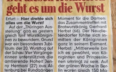 20. Wursttag auf der Thüringen Ausstellung